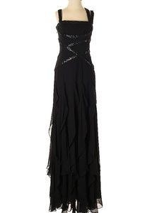 Black asymmetric strap dress